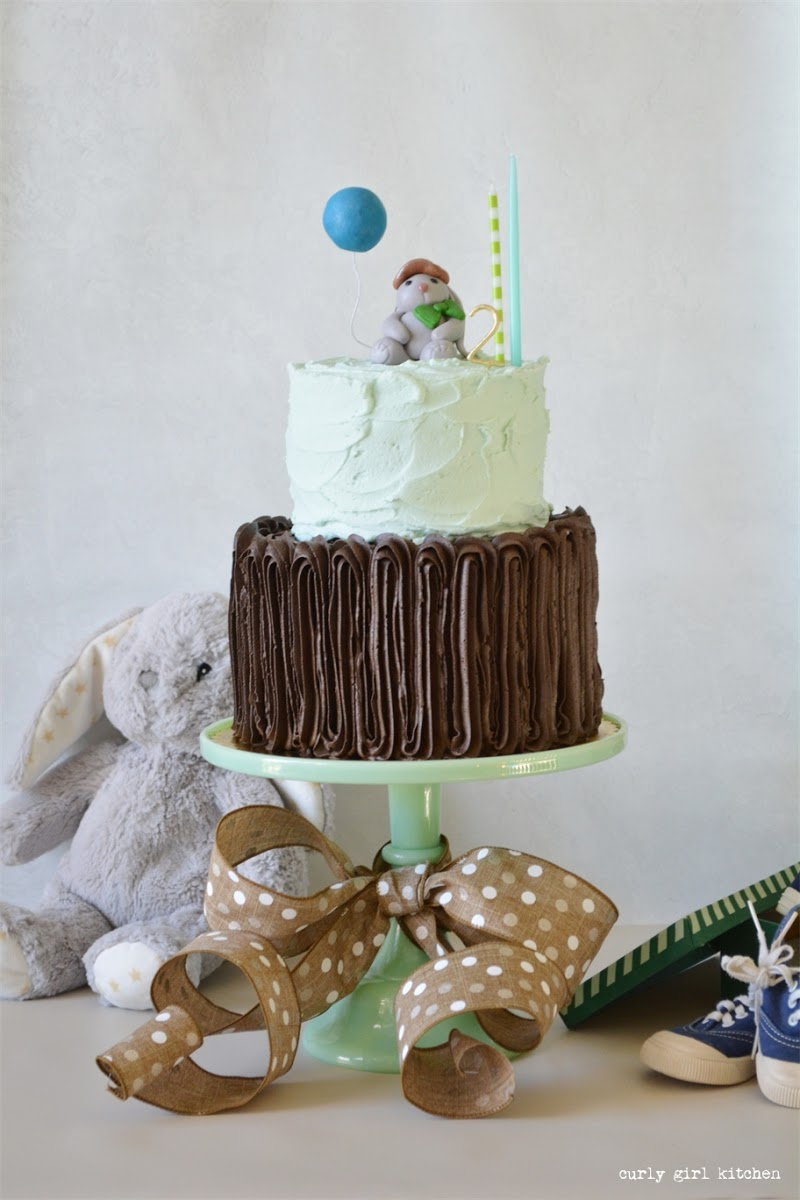 Bunny Cake, Woodland Cake, Boy Birthday Cake, Fondant Woodland Cake Topper, Baby Boy Birthday Party