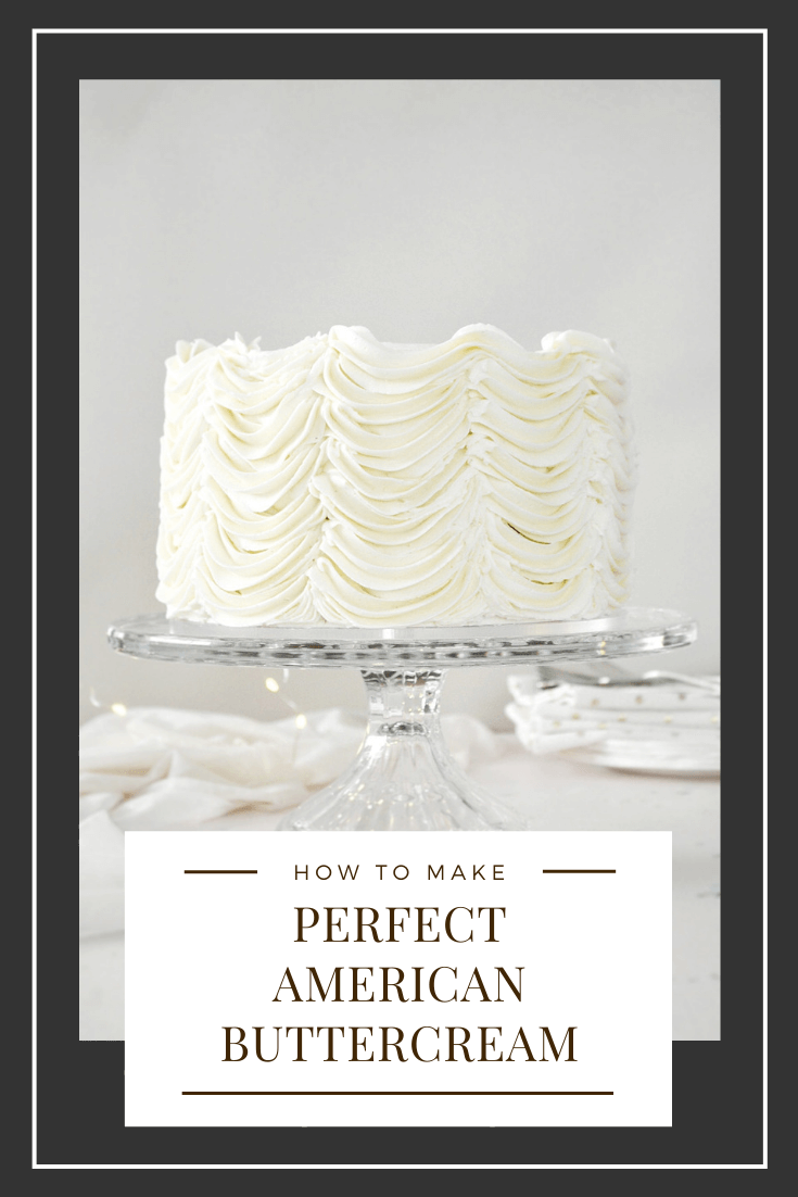 How to Make Perfect American Buttercream Graphic