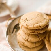 A stack of maple cookies.