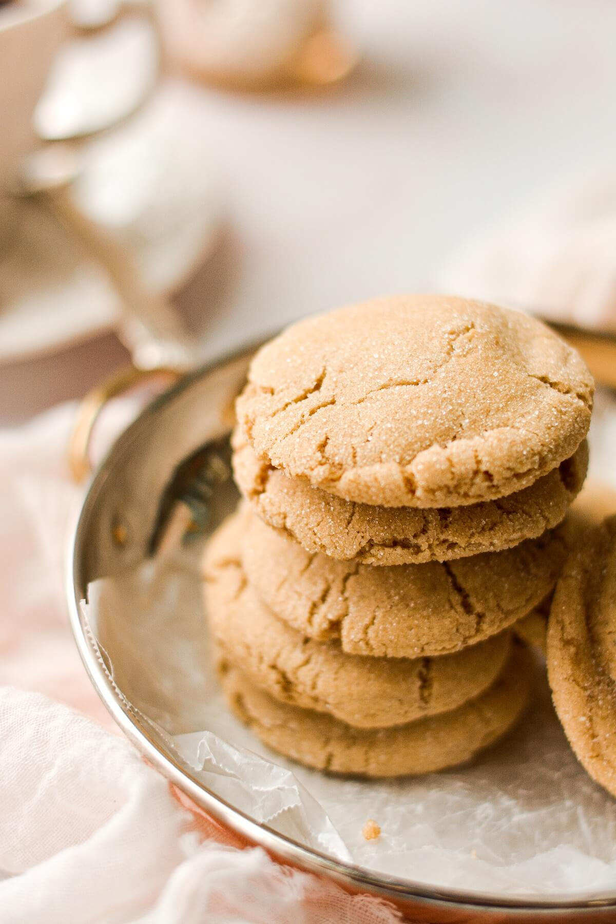 A stack of soft maple cookies.