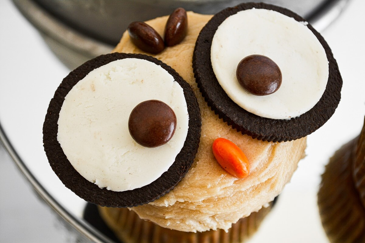 Owl cupcake for Halloween.
