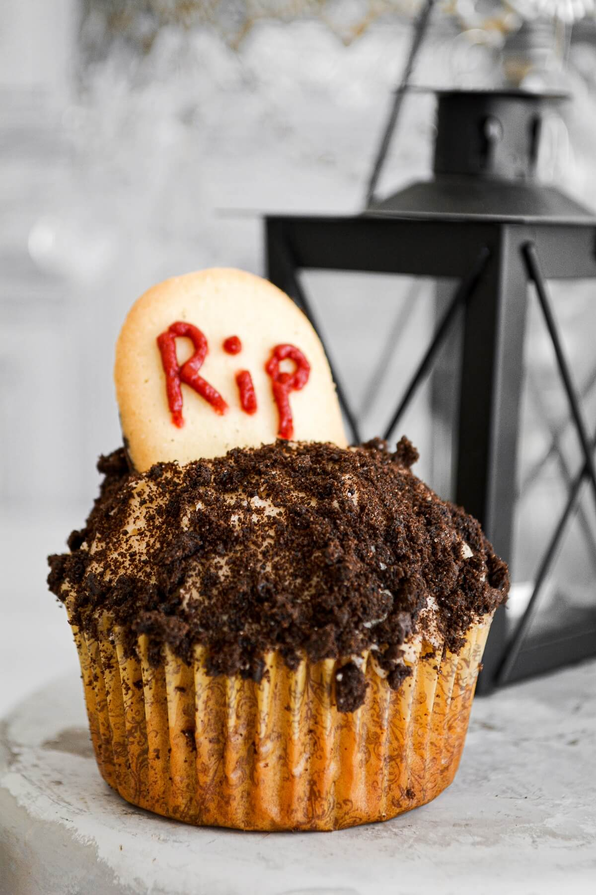 RIP cupcake for Halloween.