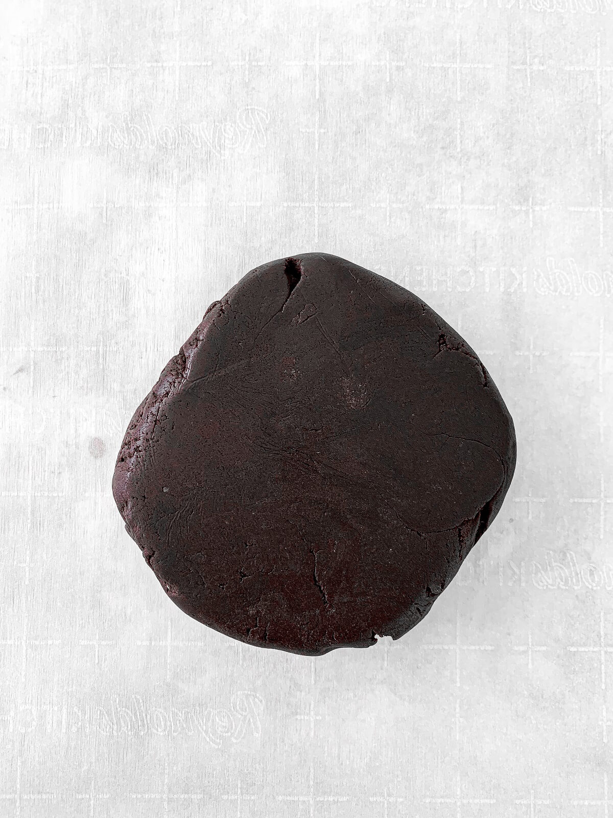 Chocolate shortbread cookie dough.
