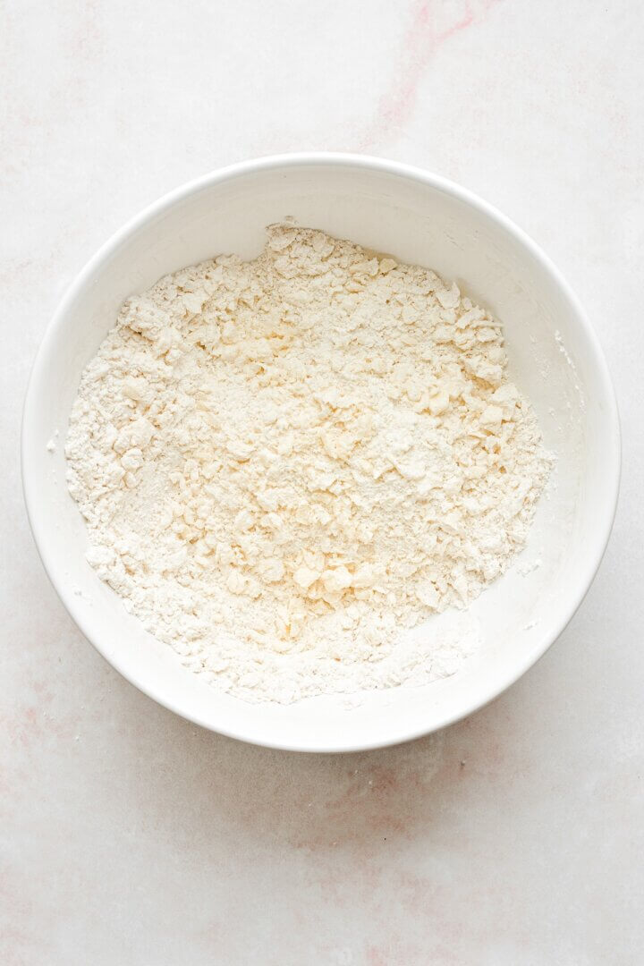 Pie dough ingredients.