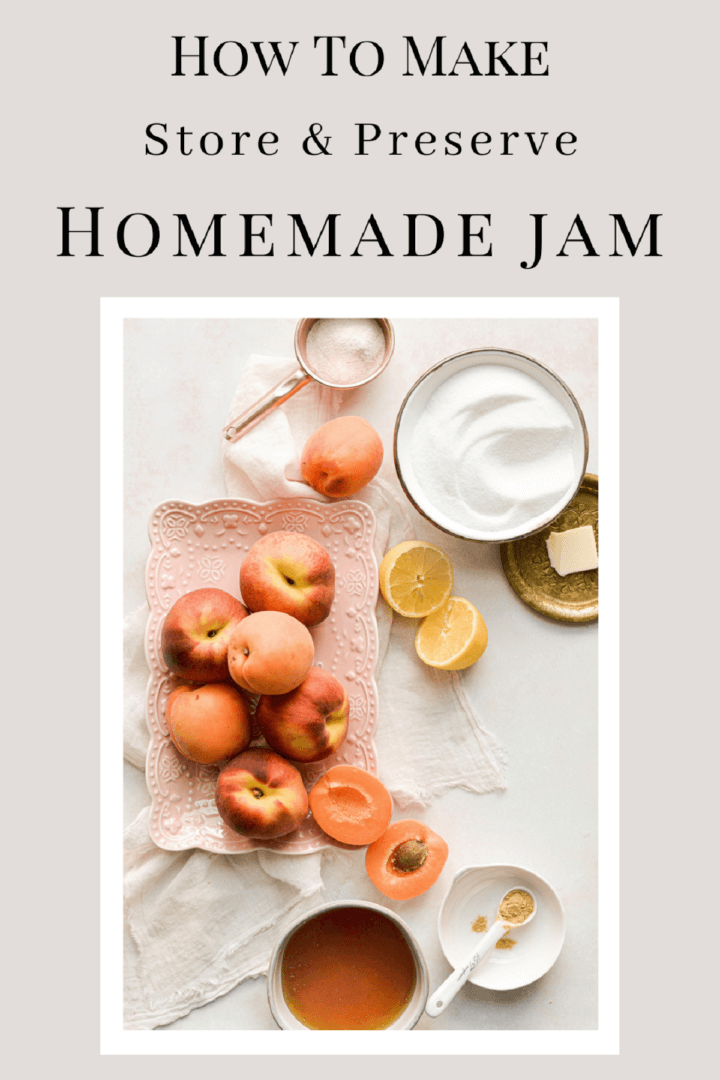 A graphic on how to make and store homemade jam.
